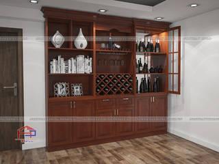 Công trình tủ bếp gỗ xoan đào và nội thất gỗ tự nhiên nhà anh Trọng ở Linh Đàm Nội thất Hpro Living roomCupboards & sideboards Wood effect