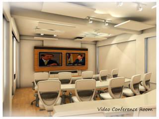 Project : งานออกแบบตกแต่ง ห้องประชุม: ทันสมัย  โดย Hip and Classic Design Studio, โมเดิร์น
