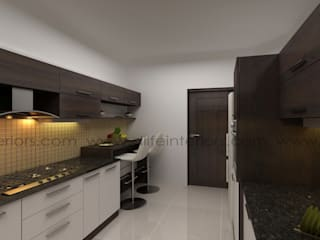 Parallel Kitchen:   by DLIFE Home Interiors,