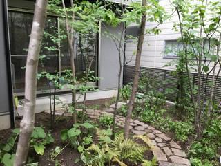 木漏れ日を楽しむ庭: 庭 遊庵が手掛けた枯山水です。,