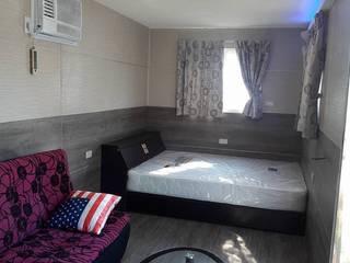 貨櫃屋:  臥室 by 茂林樓梯扶手地板工程團隊