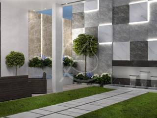 Modern Luxury Indoor Garden Design Modern style gardens by Comelite Architecture, Structure and Interior Design Modern