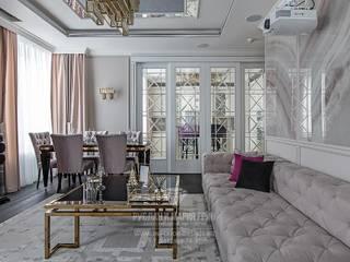 Salas de estilo clásico de Студия дизайна интерьера Руслана и Марии Грин Clásico