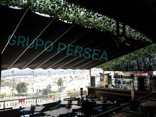 Toldo, Palillería, Pégola, PUERTO BOCAVELA Zona Esmeralda Gastronomía de estilo moderno de Toldos y Pérgolas GRUPO PERSEA Moderno