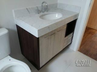 Banheiro sob medida Banheiros modernos por Campelli Móveis Sob Medida Moderno