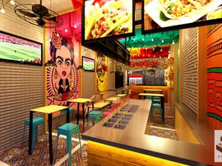 """Arquitectura Comercial, restaurante """"Oraleparce"""" /Ibagué - Tolima Taller 3M Arquitectura & Construcción Espacios comerciales Cerámico Multicolor"""