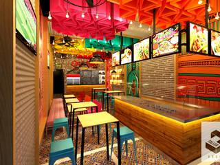"""Arquitectura Comercial, restaurante """"Oraleparce"""" /Ibagué - Tolima Taller 3M Arquitectura & Construcción Espacios comerciales Multicolor"""
