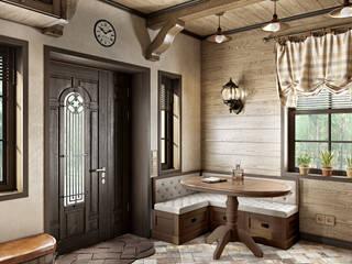 Rustic style corridor, hallway & stairs by Zibellino.Design Rustic