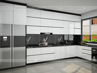 Công trình tủ bếp acrylic nhà anh Thành – Tuyên Quang đẹp – sang – tiện ích: hiện đại  by Nội thất Hpro, Hiện đại