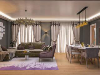3 Art Studio – Ali Keskin:  tarz Oturma Odası, Modern
