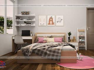 Công trình nội thất phòng ngủ gỗ Laminate cho bé nhà chị Hương – Việt Trì Nội thất Hpro BedroomWardrobes & closets Multicolored
