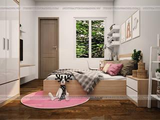Công trình nội thất phòng ngủ gỗ Laminate cho bé nhà chị Hương – Việt Trì: hiện đại  by Nội thất Hpro, Hiện đại