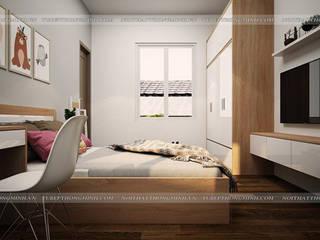 Công trình nội thất phòng ngủ gỗ Laminate cho bé nhà chị Hương – Việt Trì Nội thất Hpro BedroomBeds & headboards Multicolored