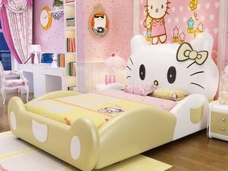 7 Mẫu giường hello kitty dành cho bé gái dễ thương Xưởng nội thất Thanh Hải BedroomBeds & headboards Yellow
