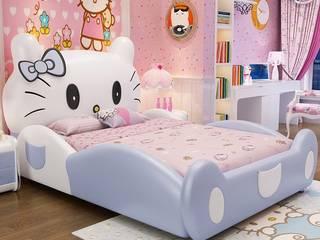 7 Mẫu giường hello kitty dành cho bé gái dễ thương Xưởng nội thất Thanh Hải BedroomBeds & headboards