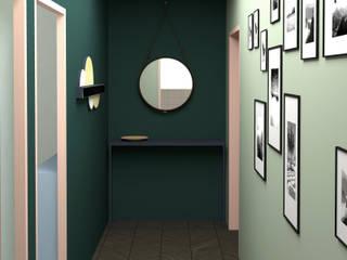 Rénovation Appartement 80m2 Couloir, entrée, escaliers scandinaves par Joëlle Bourquin Scandinave
