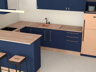 Rénovation Appartement 80m2 par Joëlle Bourquin Scandinave