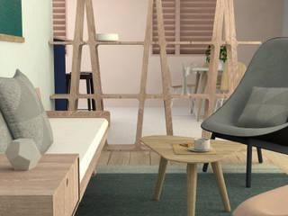 Rénovation Appartement 80m2 Salon scandinave par Joëlle Bourquin Scandinave