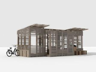 Re-Use Balcon, Veranda & Terrasse modernes par Joëlle Bourquin Moderne