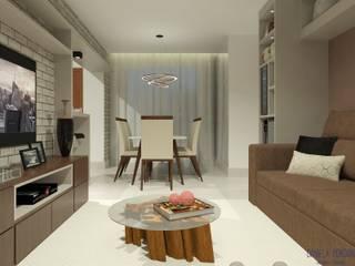 Projeto de interiores para apartamento residencial por Daniela Ponsoni Arquitetura Moderno