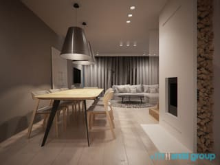 Minimalist dining room by Archi group Adam Kuropatwa Minimalist