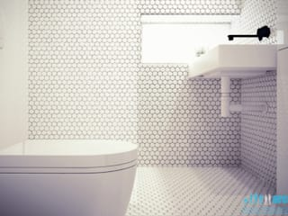 Archi group Adam Kuropatwa Minimalist style bathroom White