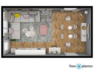 Sala Familiar:   por Atelier Decoração Interiores by Pippa & Paola