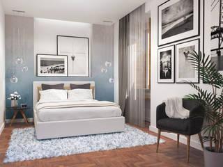 quarto de casal Quartos modernos por aponto Moderno Madeira maciça Multicolor