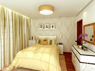 Bedroom by Caroline Peixoto Interiores