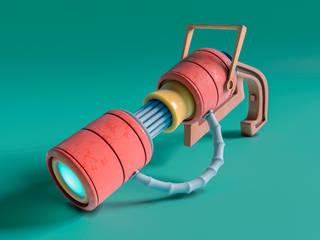 Arma Laser de AMB arquitectura + visualización