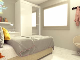 Bedroom by Caroline Peixoto Interiores,