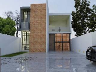 """FACHADA PRINCIPAL """"CASA CORAL"""": Casas unifamiliares de estilo  por ARDI ARQUITECTURA"""