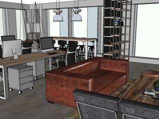 Oficina 301 Oficinas y bibliotecas de estilo industrial de HL interiorismo Industrial