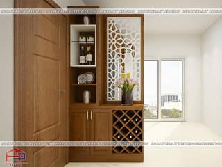 Công trình tủ bếp gỗ sồi Mỹ tự nhiên nhà bác Khôi- Hoàng Cầu bởi Nội thất Hpro