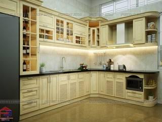 Công trình tủ bếp gỗ sồi Nga nhà anh Khê ở Đông Hưng - Thái Bình Nội thất Hpro KitchenCabinets & shelves Wood effect