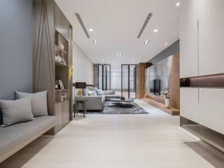叡觀國際空間規劃[Design|蔡公館] 叡觀國際空間規劃 现代客厅設計點子、靈感 & 圖片 大理石 Grey