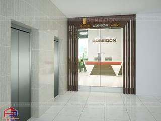 Công trình nội thất gỗ laminate nhà hàng Buffet Poseidon- 85 Lê Văn Lương do Hpro thiết kế và thi công Nội thất Hpro Office spaces & stores Multicolored
