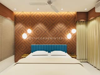 Luxury private residence Modern style bedroom by The 7th Corner Interior Modern