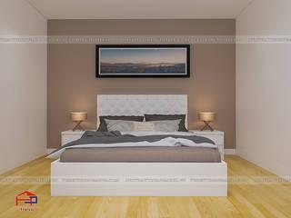 Công trình tủ bếp acrylic và nội thất gỗ An Cường nhà anh Trí – 63 Mạc Thị Bưởi, Tp.Nam Định Nội thất Hpro BedroomBeds & headboards White