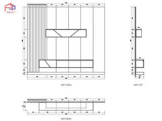 Công trình tủ bếp acrylic và nội thất gỗ An Cường nhà chị Hương – Sơn La Nội thất Hpro Living roomTV stands & cabinets Multicolored