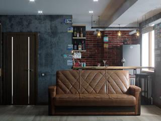 Дизайн-проект квартиры 153м2 в стиле лофт: Кухонные блоки в . Автор – ТОО 'ПРОФИТ',