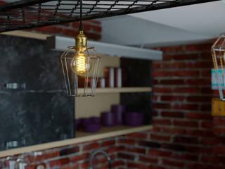 Дизайн-проект квартиры 153м2 в стиле лофт: Кухни в . Автор – ТОО 'ПРОФИТ',