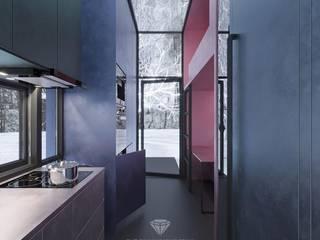 Cocinas de estilo minimalista de Студия дизайна интерьера Руслана и Марии Грин Minimalista