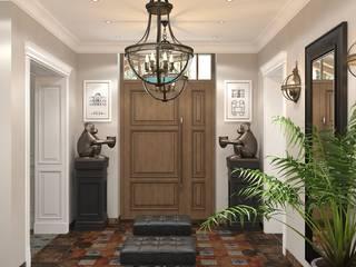 Scandinavian style corridor, hallway& stairs by Novik Design Scandinavian
