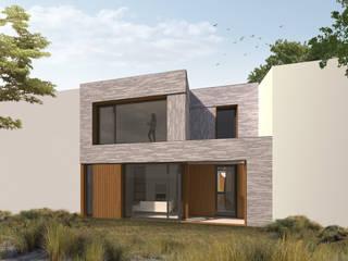 Duurzaam nieuwbouwhuis in de duinen:  Huizen door Studioschaeffer Architecten BNA, Modern