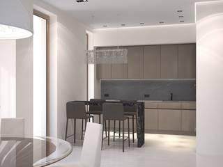 Садовые кварталы корпус 2.1 Кухня в стиле минимализм от Архитектурная мастерская Александра Ордынцева Минимализм