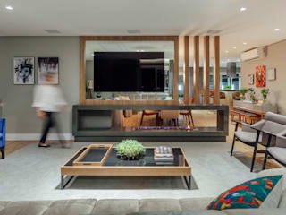 Modern Living Room by Carolina Burin & Arquitetos Associados Modern