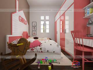Hoàn thiện nội thất phòng ngủ bé gỗ công nghiệp An Cường nhà anh Tú- 112 Hai Bà Trưng- TP. Bắc Ninh: hiện đại  by Nội thất Hpro, Hiện đại