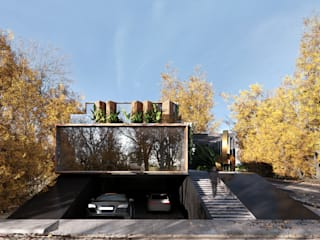 ETERNAL AUTUMN VILLA  /  Vancouver, Canadá: Casas de estilo  por ADS arquitectos