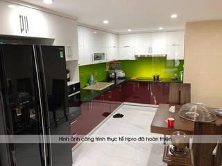 Công trình tủ bếp acrylic và nội thất gỗ An Cường nhà chị Yến – Số 3 Ngõ 2 Ngọc Lâm, Long Biên Nội thất Hpro KitchenCabinets & shelves Multicolored
